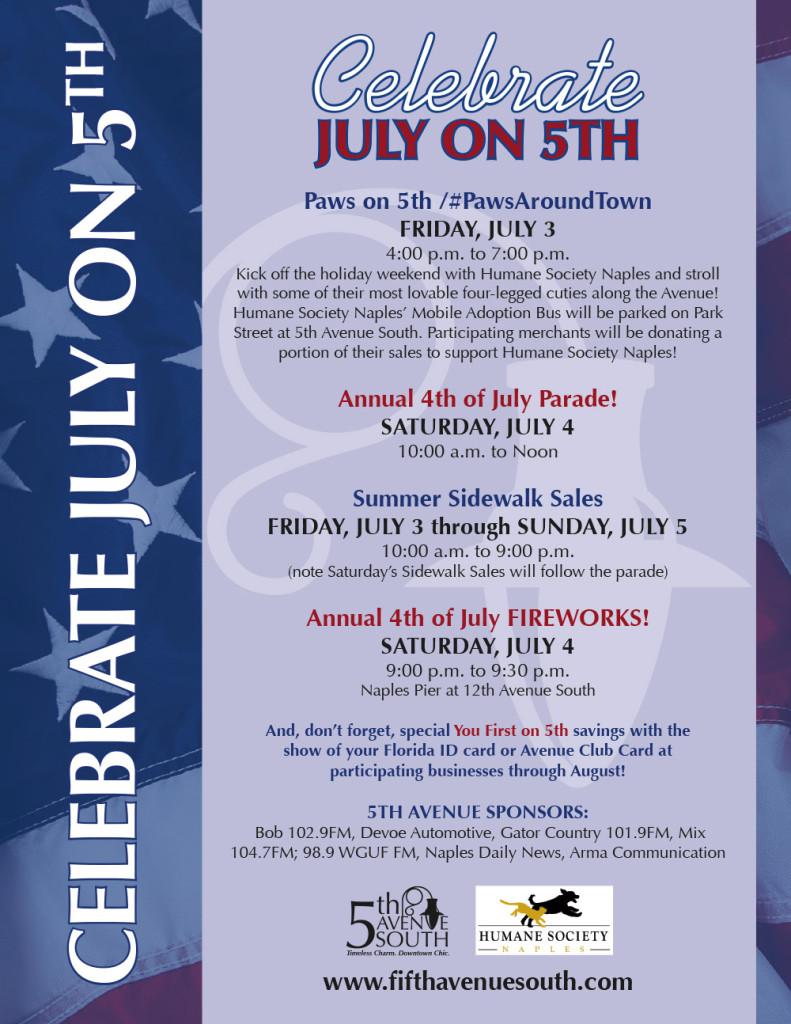 July Events Flyer
